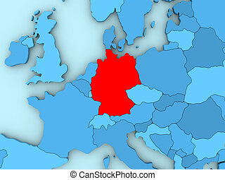 Germany on 3D map