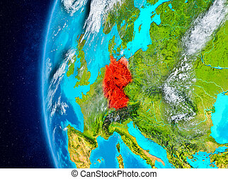 Germany on Earth from space
