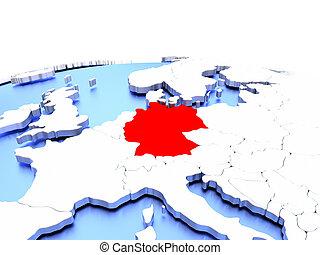 Germany on globe