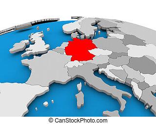 Germany on political globe