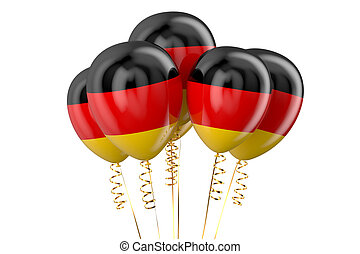 Germany patriotic balloons, holyday concept