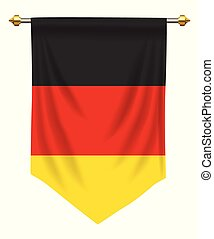 Germany Pennant - Germany flag or pennant isolated on white
