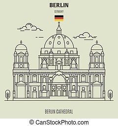 germany., repère, icône, cathédrale, berlin