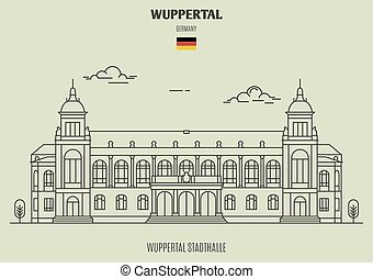 germany., repère, stadthalle, icône, wuppertal, wuppertal