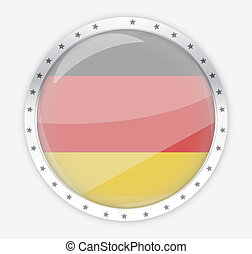 germany round opacity button icon 3d render