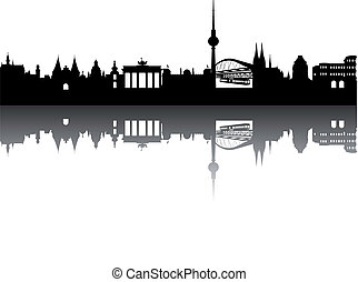 Germany Silhouette abstract