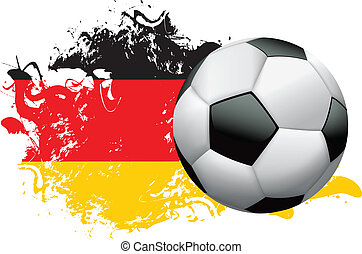 Soccer ball with a grunge flag of Germany. EPS 10 available. EPS file contains transparencies and gradient mesh.