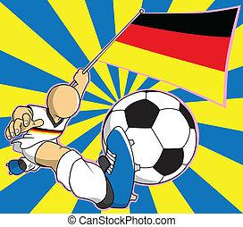Germany soccer player vector cartoon