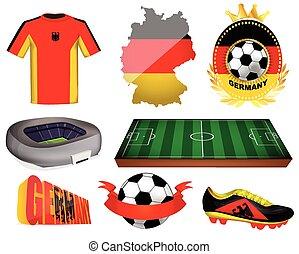 Germany soccer vector illustration
