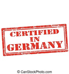 germany-stamp, certificato