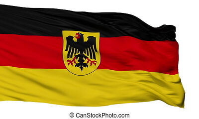 Germany State Flag Isolated Seamless Loop - Germany State...