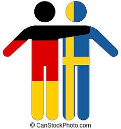 Germany - Sweden / friendship concept