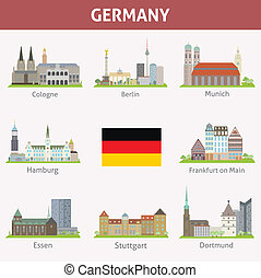 Germany. Symbols of cities