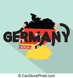 Germany Typography Design Vector Illustration