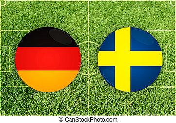 Germany vs Sweden football match