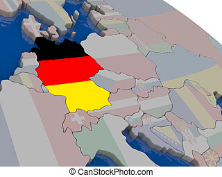 Germany with flag