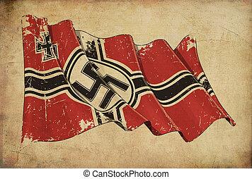 Germanys War Ensign 1938-1945 Textured Background Wallpaper...