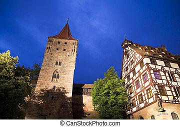 germay., (n?rnberg), castillo, nuremberg