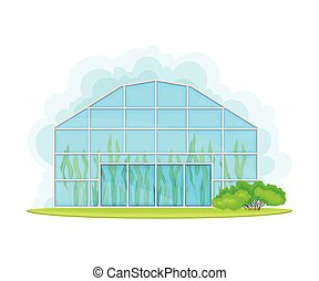 Germination Bed or Greenhouse with Crops or Vegetables ...