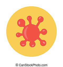 germs flat icon