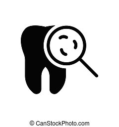 germs glyph flat icon