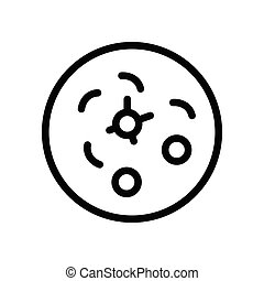 germs  thin line icon