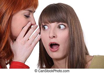 geroddeld, twee vrouwen