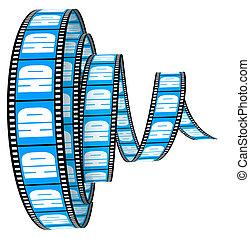 gerolde, voorwaarts, segment, hd, film