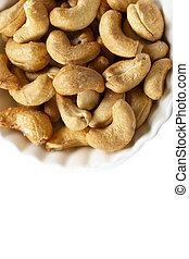 geroosterd, gezouten, nootjes, cashews