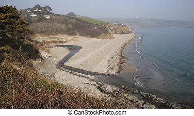 Gerrans Bay Cornwall England UK on the Roseland Peninsula...