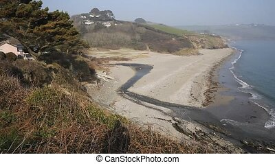 Gerrans beach Cornwall England UK - Gerrans Bay Cornwall...