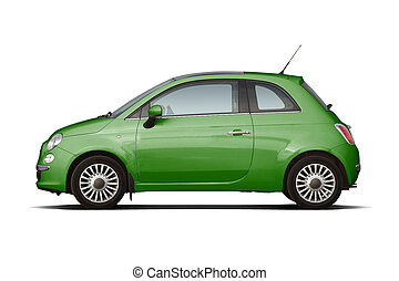 Gerrn compact hatchback - Green retro style compact...