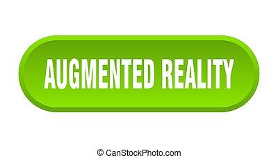 gerundet, augmented, wirklichkeit, weißer hintergrund, ...