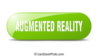 gerundet, sticker., glas, augmented, wirklichkeit, button., ...