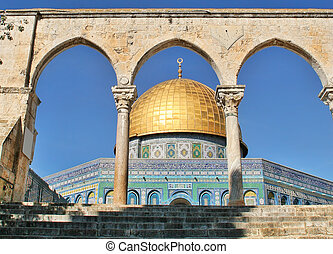 gerusalemme, rock., israel., cupola