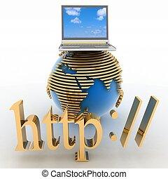 gesamt-netzwerk, internet