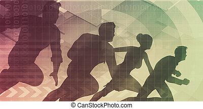 geschäft mannschaft, arbeitend zusammen