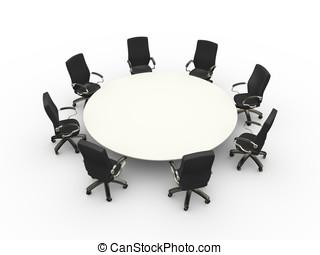 geschäftlicher zimmer, stühle, tisch, versammlung, leerer ,...