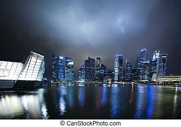 geschäftsbezirk, singapur