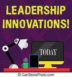 geschäftscomputer, stil, schreibende, lamp., anordnung, führung, angestellte, tablette, nightshift, innovations., arbeiter, wort, erzeugen, text, arbeitsbereich, aufprall, kreativ, ideen, begriff