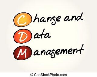 geschäftsführung, akronym, cdm, ?, daten, änderung