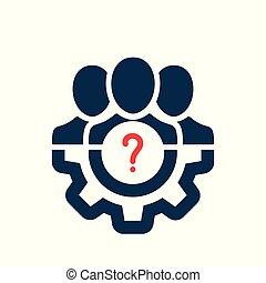 geschäftsführung, info, symbol, frage, wie, hilfe, zu, frage, mark., ikone
