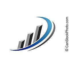 geschäftsfachmann, finanz, schablone, logo