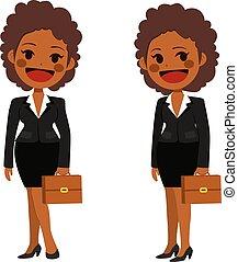 geschäftsfrau, amerikanische , afrikanisch