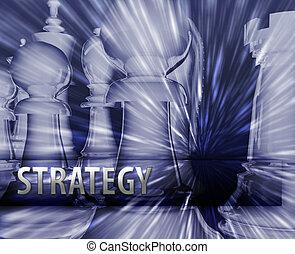 geschäftsillustration, strategie