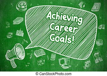 geschäftskarriere, concept., -, ziele, erreichen