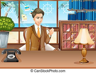 geschäftsmann, arbeits büro
