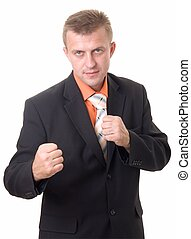 geschäftsmann, boxen