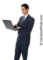 geschäftsmann, laptop