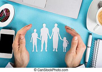 Buroklammer Familie Arrangiert Form Aus Familie Buroklammern